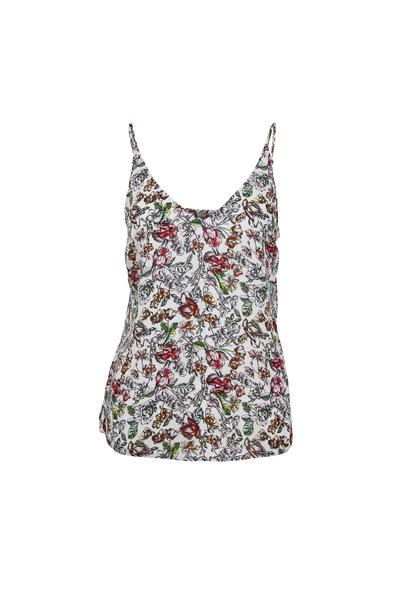 L'Agence - Gabriella Ivory Silk Floral Cami