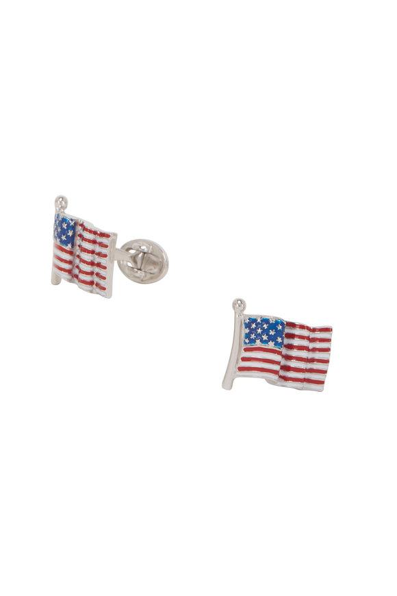 Jan Leslie American Flag Enamel Cuff Links