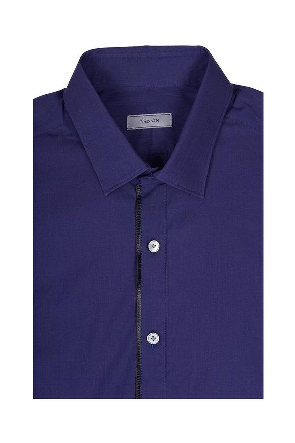 Lanvin Ink Cotton Poplin Slim Fit Sport Shirt