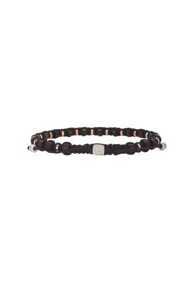 Tateossian - Onyx & Ebony Macramé Beaded Bracelet-Medium