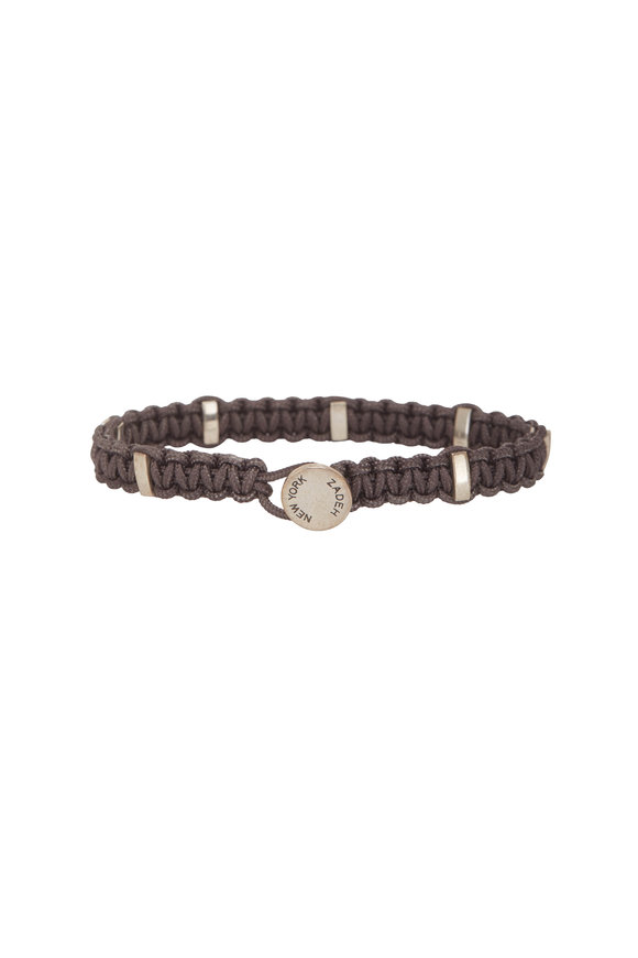 Catherine M. Zadeh Santos Gray Macramé Bracelet