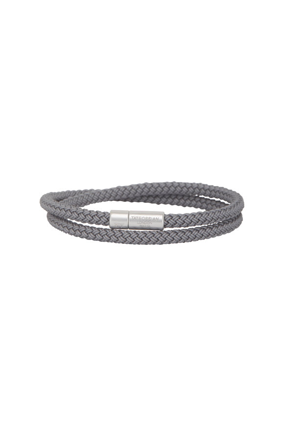 Tateossian Notting Hill Rubber Cable Bracelet-Large