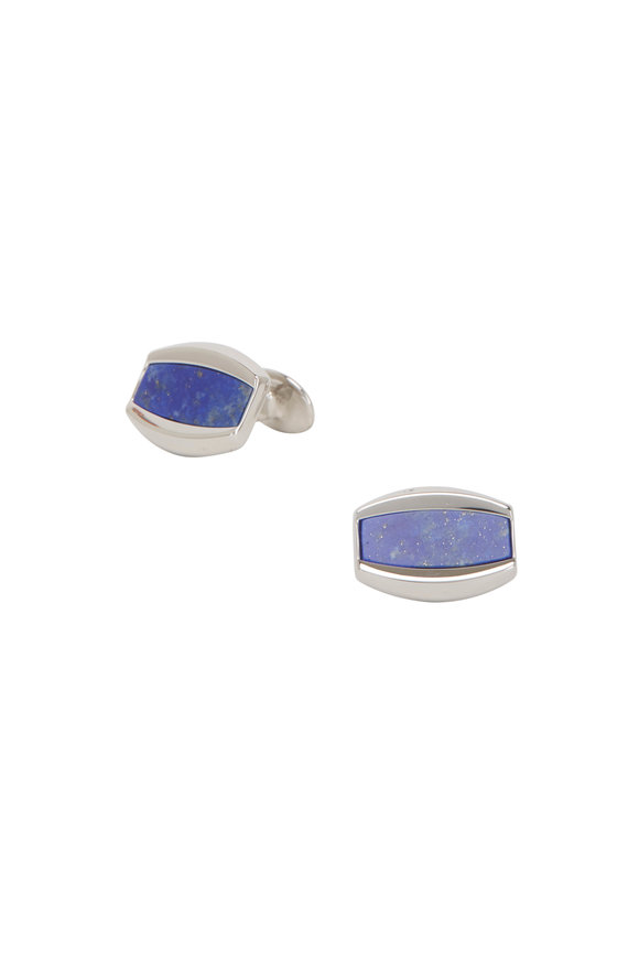 David Donahue Blue Lapis Sterling Silver Cuff Links