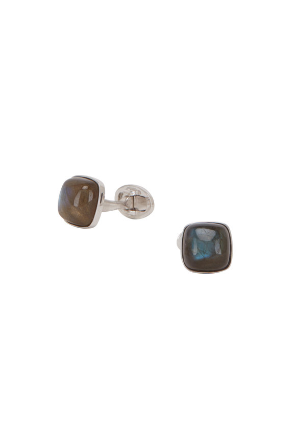 Jan Leslie Blue Labradorite Cuff Links