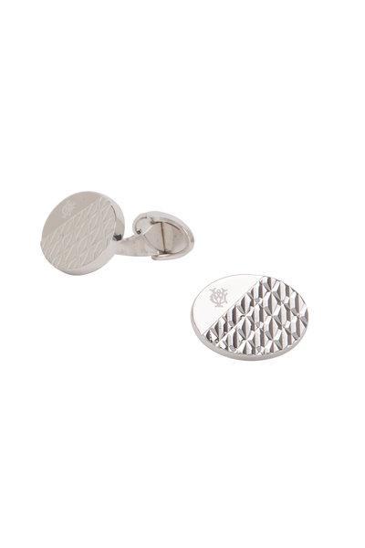 Dunhill - Modernist Silver Textured Cuff Links
