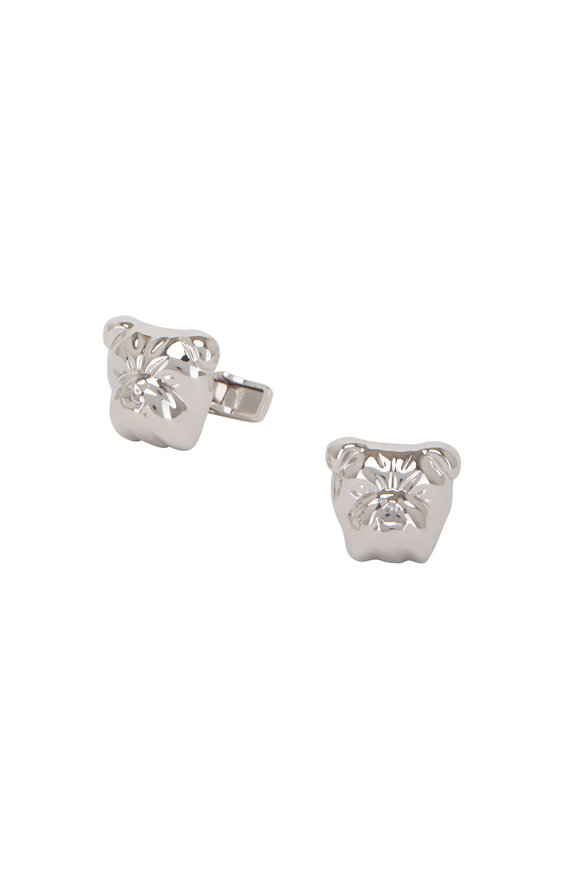 Dunhill British Bulldog Silver Cuff Links