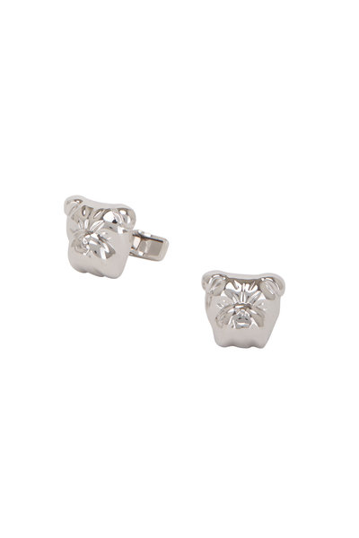 Dunhill - British Bulldog Silver Cuff Links