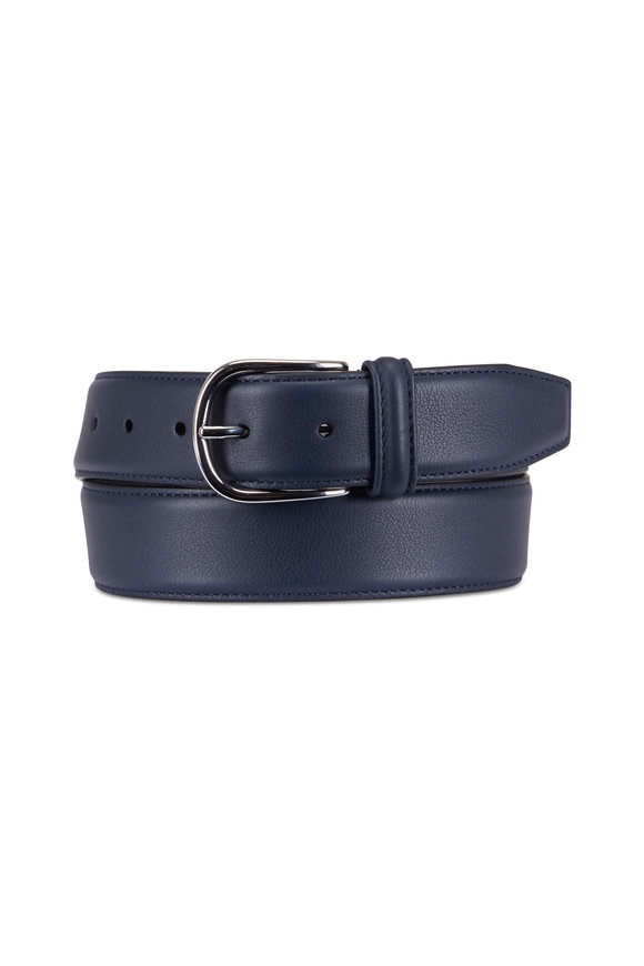 Anderson's Navy Leather Belt