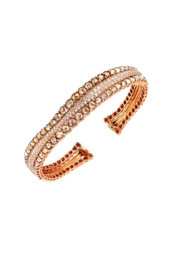 Etho Maria 18K Rose Gold Brown Diamond Bracelet