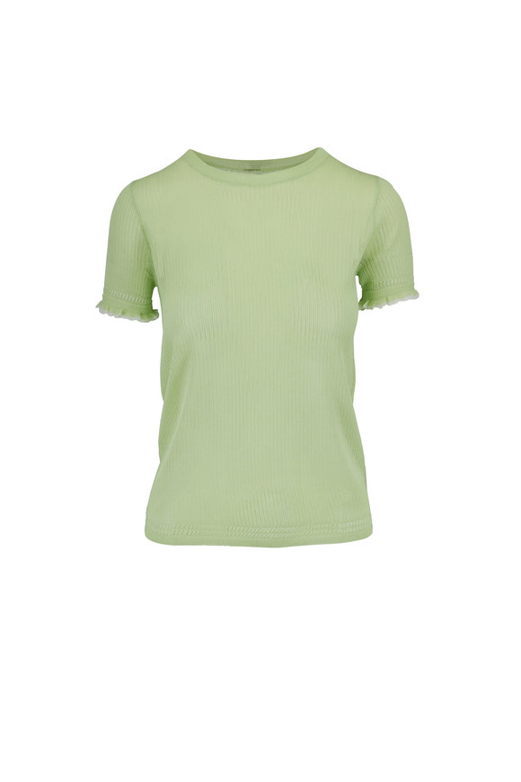 Rag & Bone Breanne Light Green Ribbed T-Shirt