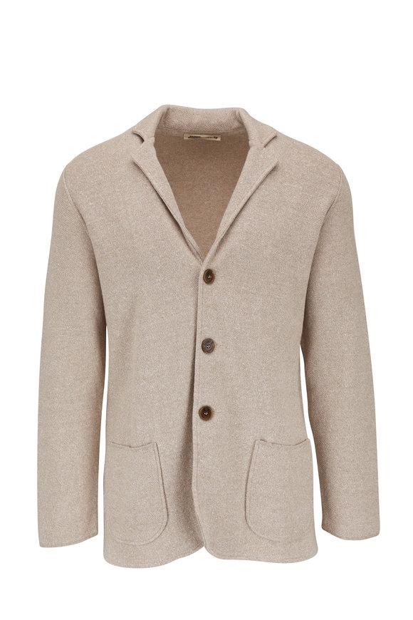 Maurizio Baldassari Oatmeal Linen & Cotton Sweater Cardigan
