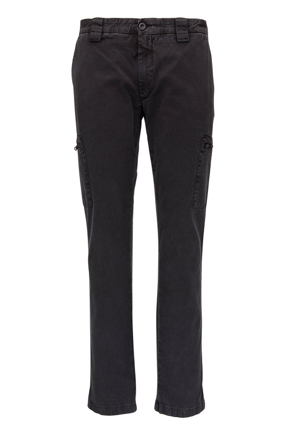 CP Company Faded Black Stretch Gabardine Cargo Pant