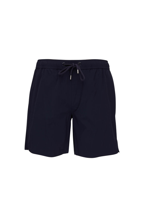 Moncler Navy Blue Swim Trunks