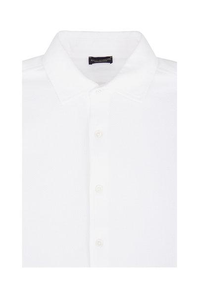 Eddy Monetti - White Piqué Sport Shirt