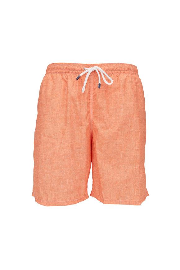 Fedeli Washed Orange Swim Trunks