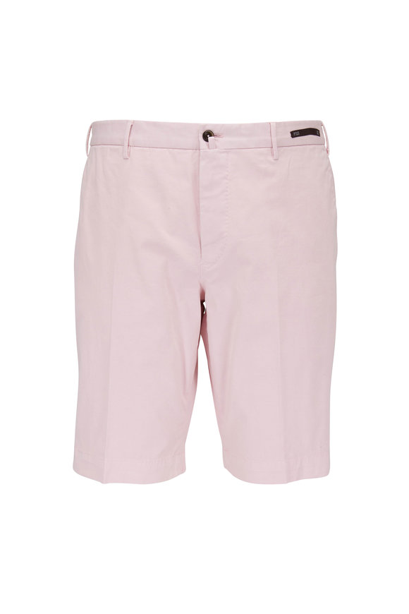PT Pantaloni Torino Light Pink Stretch Cotton Shorts