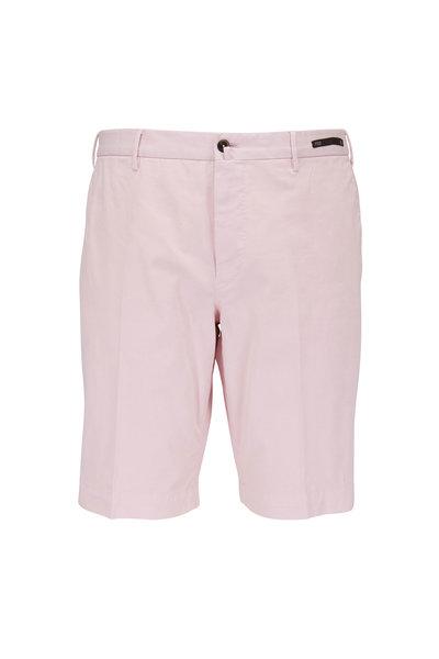 PT Torino - Light Pink Stretch Cotton Shorts