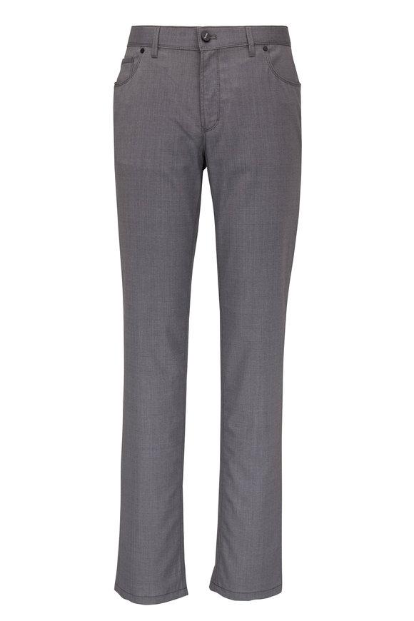 Hiltl Kent Gray Stretch Wool Five Pocket Pant
