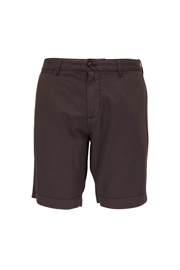 Faherty Brand Harbor Black Stretch Cotton Shorts