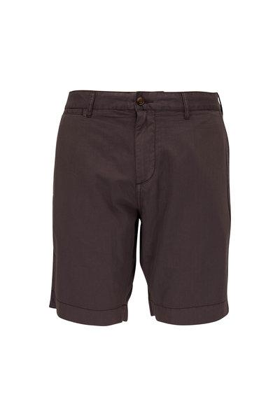 Faherty Brand - Harbor Black Stretch Cotton Shorts