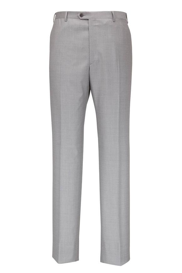 Brioni Pearl Gray Wool Slim Fit Dress Pant
