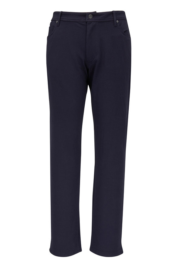 Swet Tailor Navy Blue Cotton Knit Five Pocket Pant