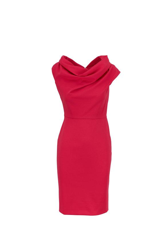 Escada Diarina Pink Myrtle Cowlneck Dress