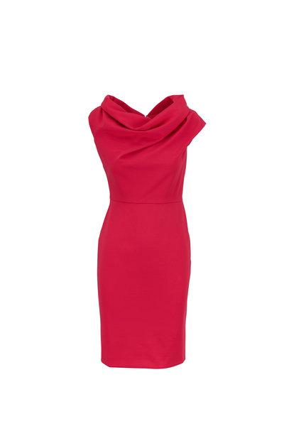 Escada - Diarina Pink Myrtle Cowlneck Dress