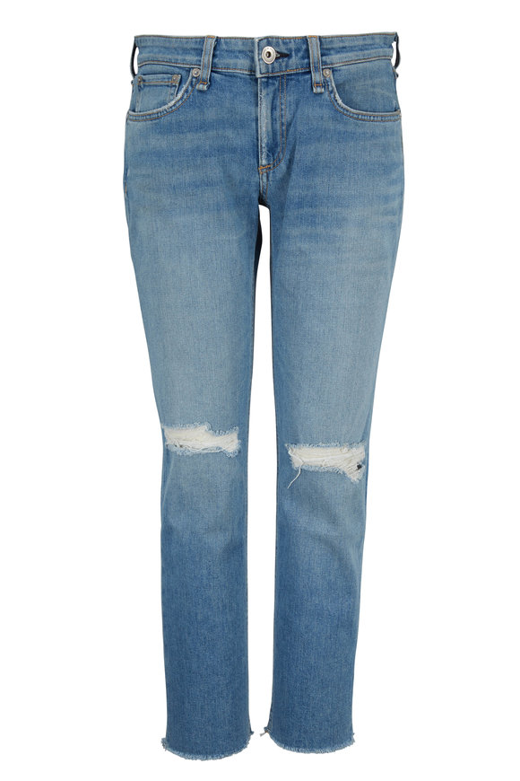 Rag & Bone Dre Sonny With Holes Ankle Slim Boyfriend Jean