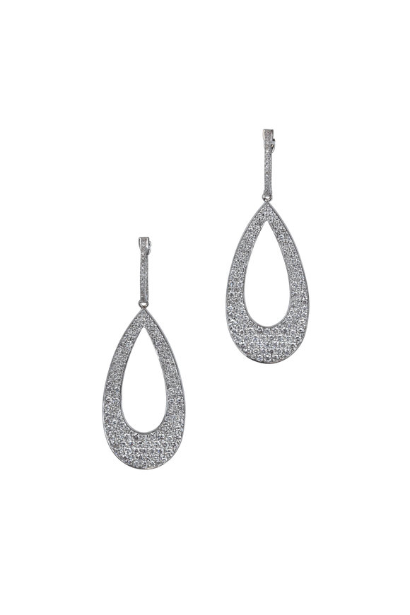 Kai Linz 18K White Gold Aladdian Diamond Earrings