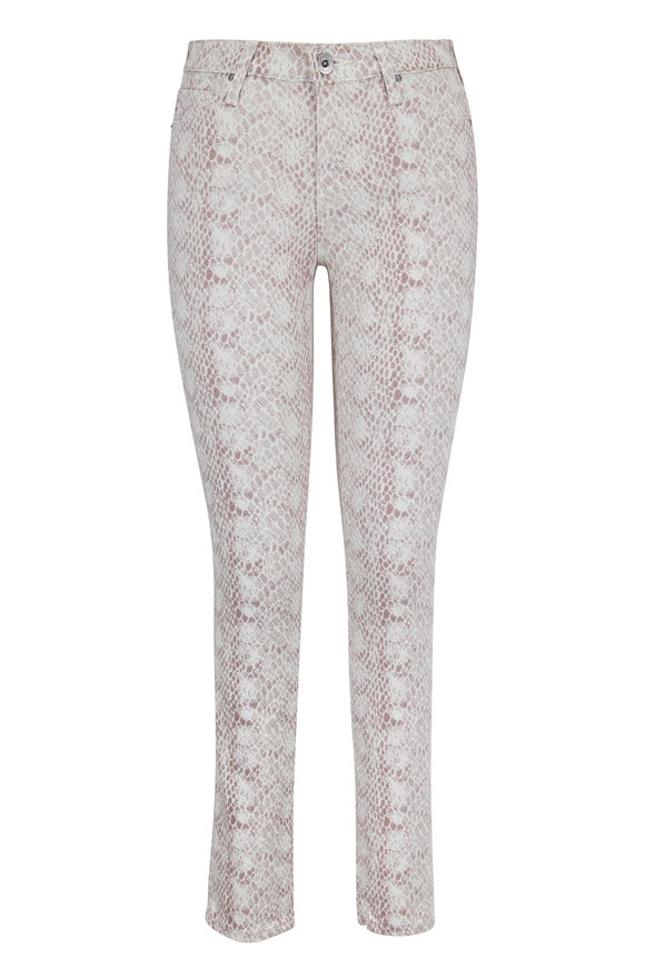 AG - Adriano Goldschmied Prima Blush Python Print Ankle Jean
