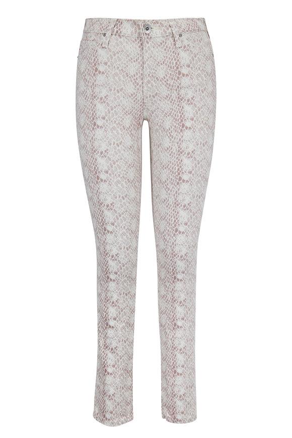 AG - Adriano Goldschmied Prima Blush Python Print Ankle Jean