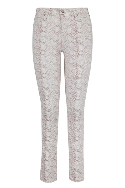 AG - Adriano Goldschmied - Prima Blush Python Print Ankle Jean