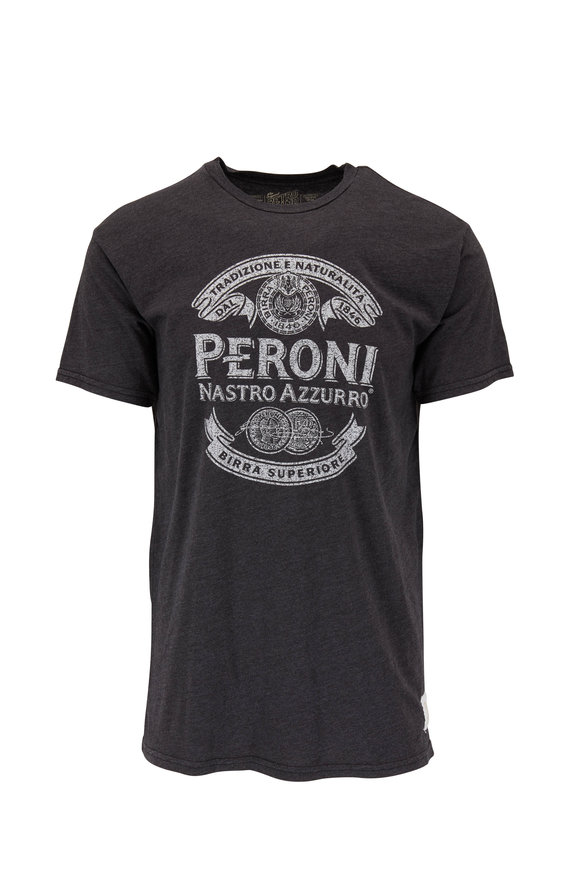 Retro Brand Washed Black PERONI Graphic T-Shirt