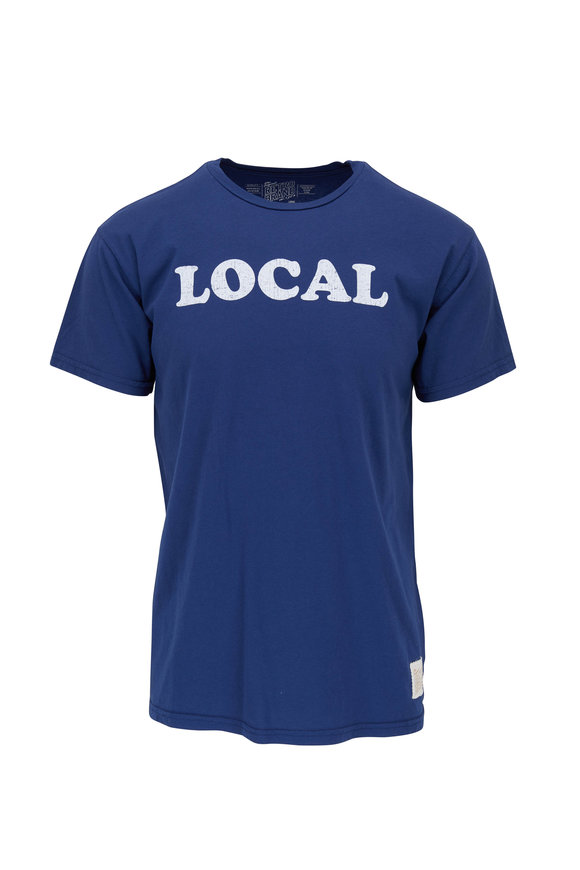 Retro Brand Blue LOCAL Graphic T-Shirt