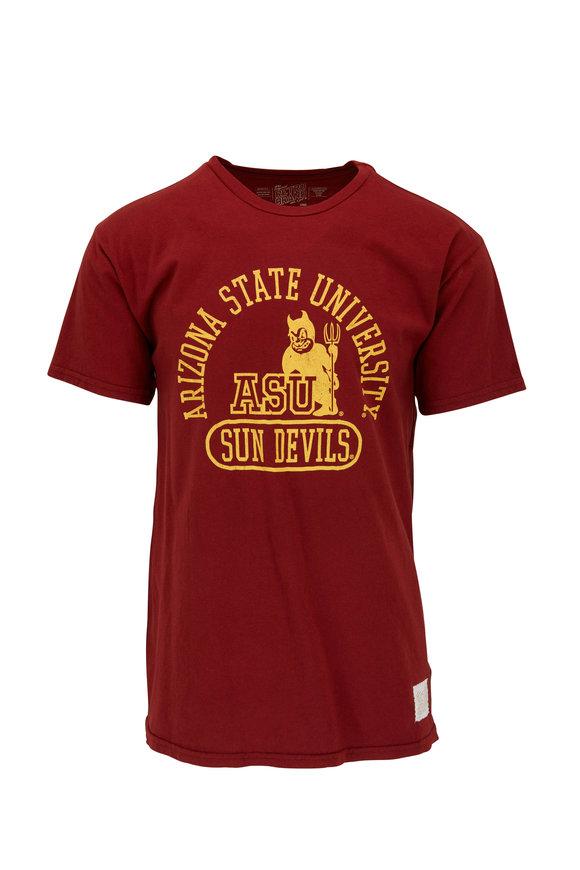Retro Brand Brick Red Ariazona State University T-Shirt