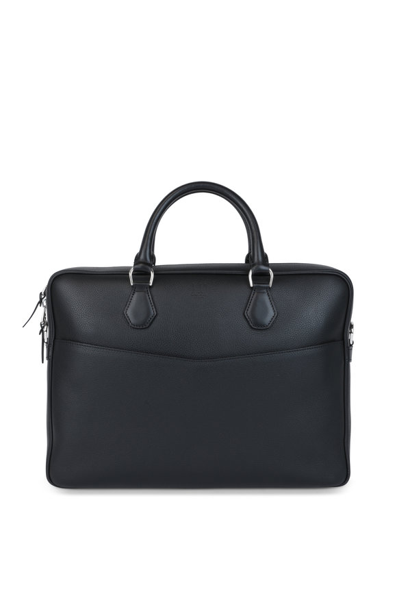 Dunhill Boston Black Leather Briefcase