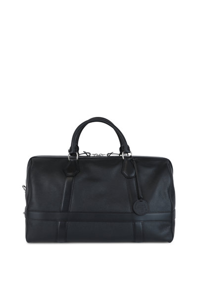 Dunhill - Boston Black Leather Duffle Bag