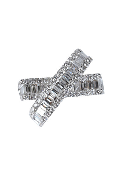 Kai Linz - Diamond Baguette Crossover Ring