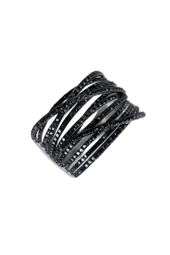 Kai Linz 14K White Gold Jess Black Diamond Ring