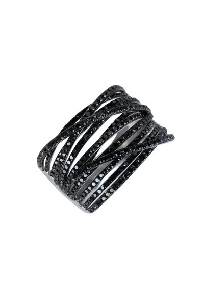 Kai Linz - 14K White Gold Jess Black Diamond Ring