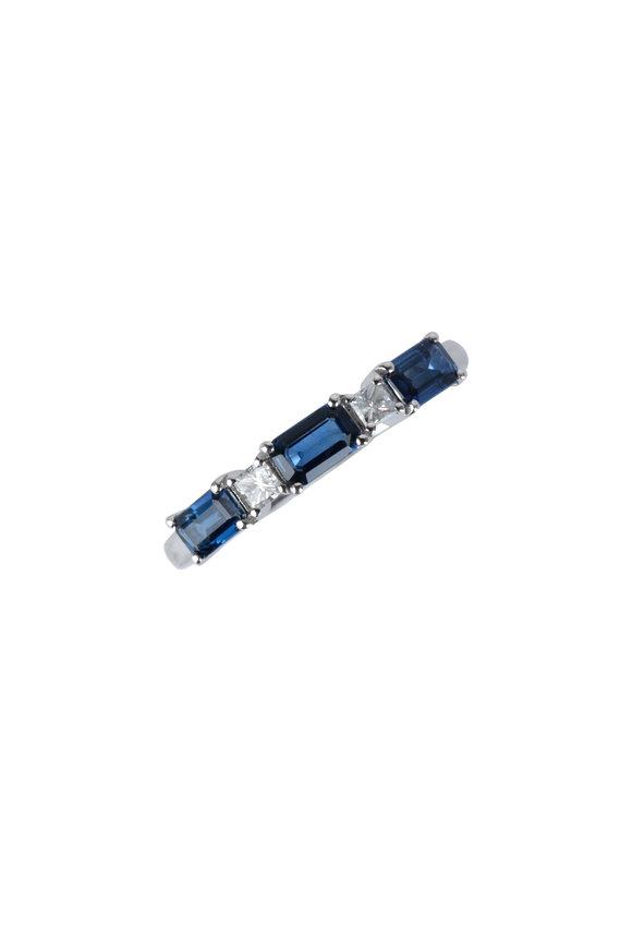 Kai Linz 18K White Gold Sapphire & Diamond Ring