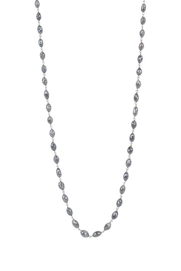 Kai Linz 18K White Gold Gray Diamond Chain Necklace