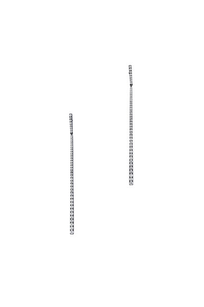 Kai Linz - 18K White Gold Diamond Stick Earrings
