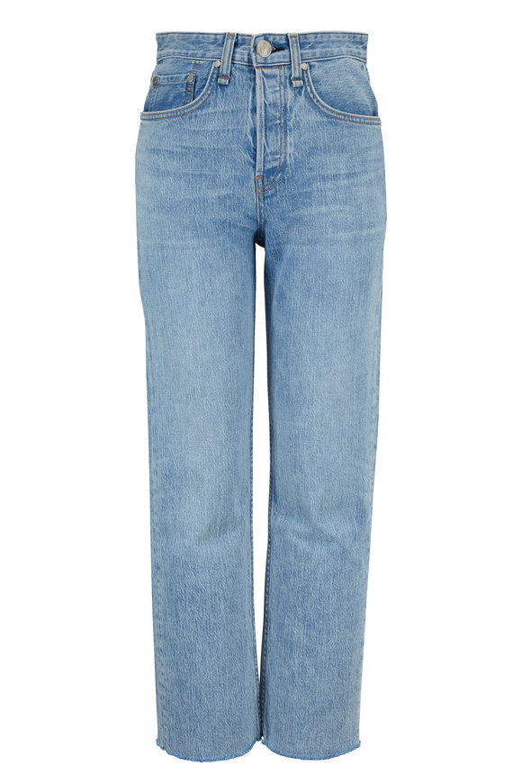 Rag & Bone Maya Icy Blue High-Rise Ankle Straight Jean