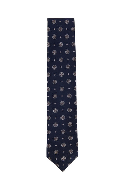 Brioni - Midnight Medallion Silk Necktie