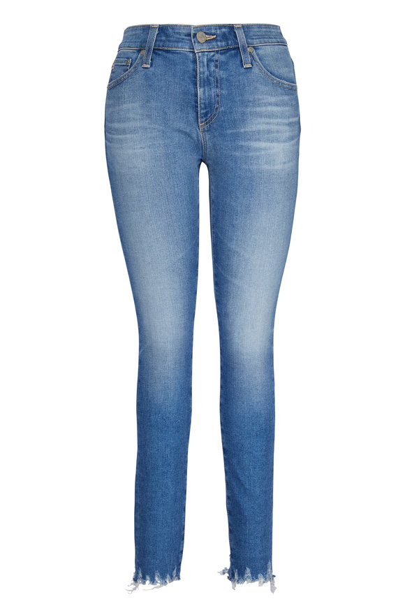 AG - Adriano Goldschmied Farrah Light Wash High-Rise Ankle Skinny Jean