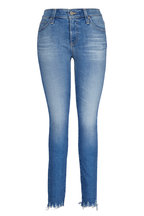 AG - Adriano Goldschmied - Farrah Light Wash High-Rise Ankle Skinny Jean