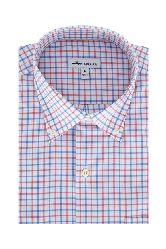 Peter Millar Crown Ease Lanai Tattersall Sport Shirt
