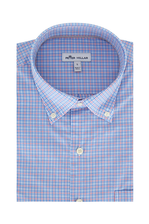 Peter Millar Crown Finish Vessel Mini Check Sport Shirt